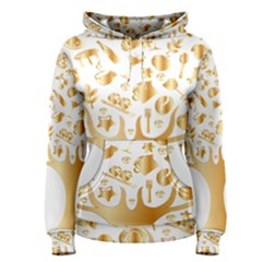 Abstract Book Floral Food Icons Women s Pullover Hoodie