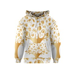Abstract Book Floral Food Icons Kids  Zipper Hoodie