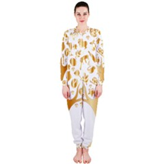 Abstract Book Floral Food Icons Onepiece Jumpsuit (ladies)