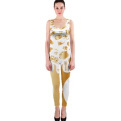 Abstract Book Floral Food Icons Onepiece Catsuit