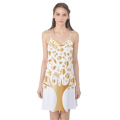 Abstract Book Floral Food Icons Camis Nightgown