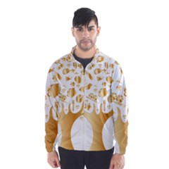Abstract Book Floral Food Icons Wind Breaker (men)