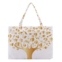 Abstract Book Floral Food Icons Medium Tote Bag