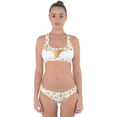 Abstract Book Floral Food Icons Cross Back Hipster Bikini Set