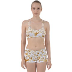 Abstract Book Floral Food Icons Women s Sports Set