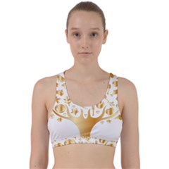 Abstract Book Floral Food Icons Back Weave Sports Bra