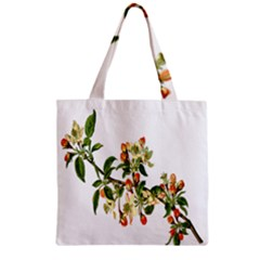 Apple Branch Deciduous Fruit Zipper Grocery Tote Bag
