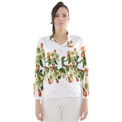 Apple Branch Deciduous Fruit Wind Breaker (women)