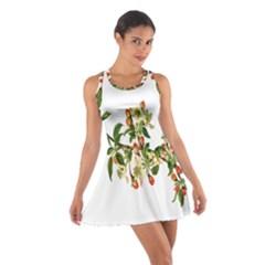 Apple Branch Deciduous Fruit Cotton Racerback Dress