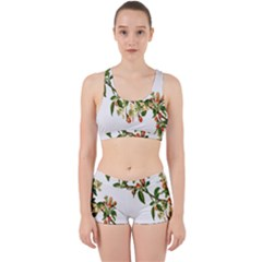 Apple Branch Deciduous Fruit Work It Out Sports Bra Set