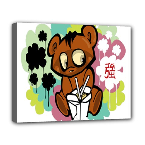 Bear Cute Baby Cartoon Chinese Deluxe Canvas 20  X 16