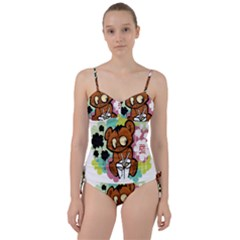 Bear Cute Baby Cartoon Chinese Sweetheart Tankini Set