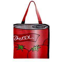 Beverage Can Drink Juice Tomato Zipper Grocery Tote Bag