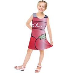 Beverage Can Drink Juice Tomato Kids  Tunic Dress