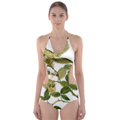 Berries Berry Food Fruit Herbal Cut Out One Piece Swimsuit