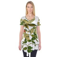 Berries Berry Food Fruit Herbal Short Sleeve Tunic