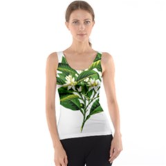 Bitter Branch Citrus Edible Floral Tank Top