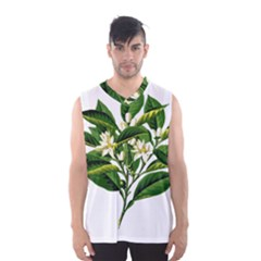 Bitter Branch Citrus Edible Floral Men s Basketball Tank Top