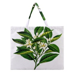 Bitter Branch Citrus Edible Floral Zipper Large Tote Bag