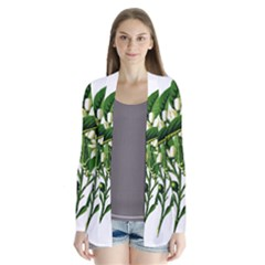 Bitter Branch Citrus Edible Floral Drape Collar Cardigan