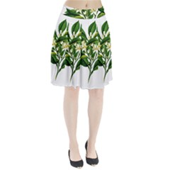 Bitter Branch Citrus Edible Floral Pleated Skirt