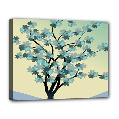 Branches Field Flora Forest Fruits Canvas 14  X 11