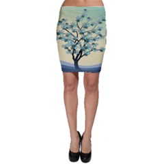 Branches Field Flora Forest Fruits Bodycon Skirt