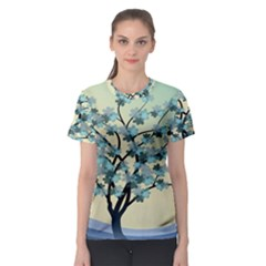 Branches Field Flora Forest Fruits Women s Sport Mesh Tee