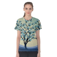 Branches Field Flora Forest Fruits Women s Cotton Tee