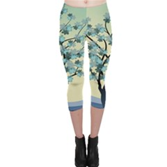 Branches Field Flora Forest Fruits Capri Leggings