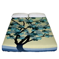 Branches Field Flora Forest Fruits Fitted Sheet (queen Size)