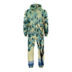 Branches Field Flora Forest Fruits Hooded Jumpsuit (kids)