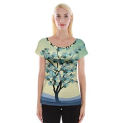 Branches Field Flora Forest Fruits Cap Sleeve Tops