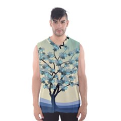Branches Field Flora Forest Fruits Men s Basketball Tank Top
