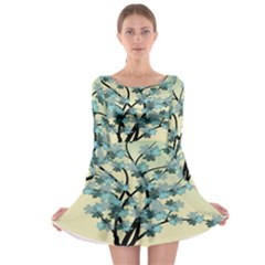 Branches Field Flora Forest Fruits Long Sleeve Skater Dress