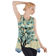 Branches Field Flora Forest Fruits Side Drop Tank Tunic