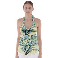 Branches Field Flora Forest Fruits Babydoll Tankini Top