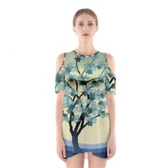 Branches Field Flora Forest Fruits Shoulder Cutout One Piece