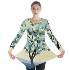 Branches Field Flora Forest Fruits Long Sleeve Tunic