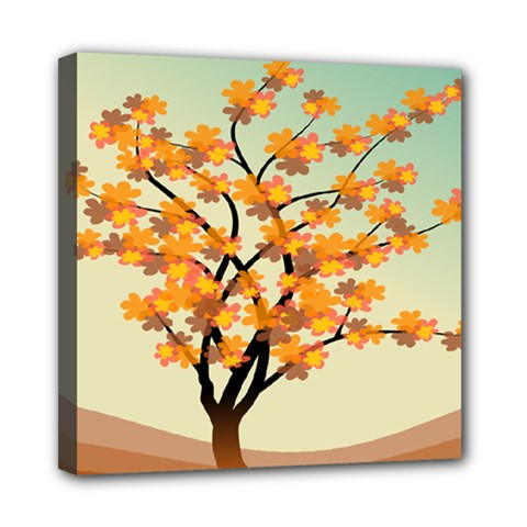 Branches Field Flora Forest Fruits Mini Canvas 8  X 8