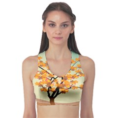 Branches Field Flora Forest Fruits Sports Bra