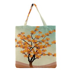 Branches Field Flora Forest Fruits Grocery Tote Bag