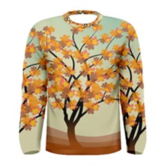 Branches Field Flora Forest Fruits Men s Long Sleeve Tee