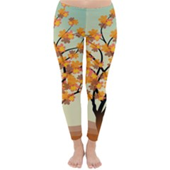 Branches Field Flora Forest Fruits Classic Winter Leggings