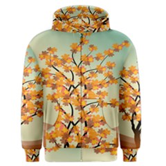 Branches Field Flora Forest Fruits Men s Zipper Hoodie