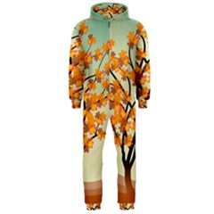 Branches Field Flora Forest Fruits Hooded Jumpsuit (men)