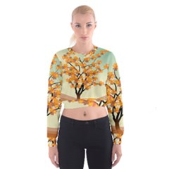 Branches Field Flora Forest Fruits Cropped Sweatshirt