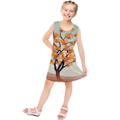 Branches Field Flora Forest Fruits Kids  Tunic Dress