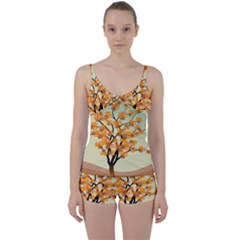 Branches Field Flora Forest Fruits Tie Front Two Piece Tankini