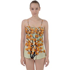 Branches Field Flora Forest Fruits Babydoll Tankini Set